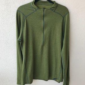 Patagonia Olive Green Half Zip Baselayer Shirt
